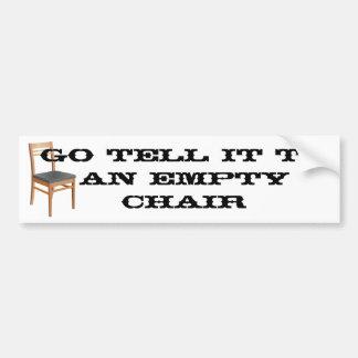Empty Chair Car Bumper Sticker