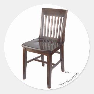 Empty Chair Classic Round Sticker
