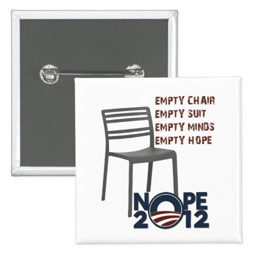 Empty Chair, Empty Obama 2 Inch Square Button