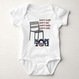 Empty Chair, Empty Obama Baby Bodysuit