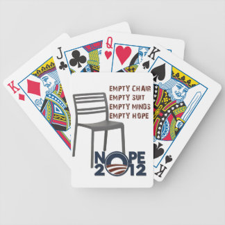 Empty Chair, Empty Obama Bicycle Playing Cards