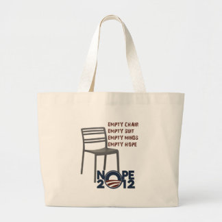 Empty Chair, Empty Obama Large Tote Bag