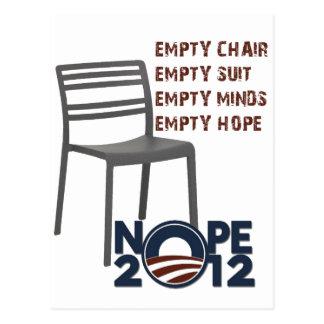 Empty Chair, Empty Obama Postcard