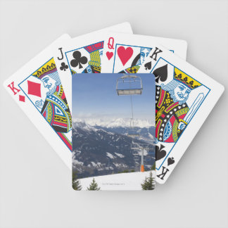 Empty Chair Lift Bicycle Playing Cards