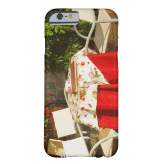 Empty chairs at a sidewalk cafe, Piazza della Barely There iPhone 6 Case