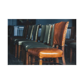 Empty Chairs at the Music Hall Canvas Print