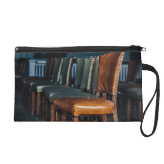 Empty Chairs at the Music Hall Wristlet Purse