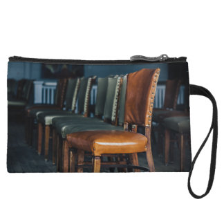 Empty Chairs at the Music Hall Wristlet Wallet