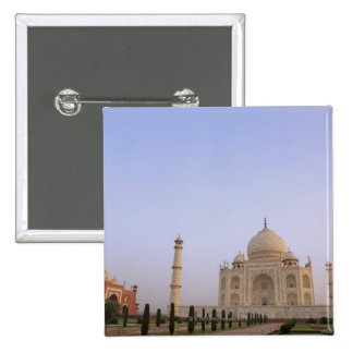 Empty Charbagh gardens at the Taj Mahal in the 2 Inch Square Button