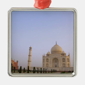 Empty Charbagh gardens at the Taj Mahal in the Metal Ornament