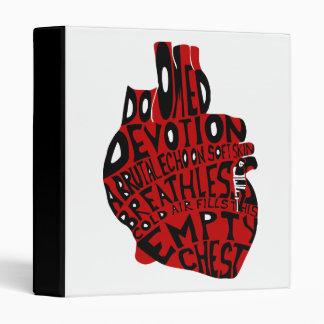empty chest : anatomical heart binder
