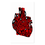empty chest : anatomical heart business card template