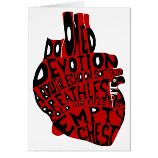 empty chest : anatomical heart card