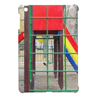 Empty children's playground and a slide iPad mini cover