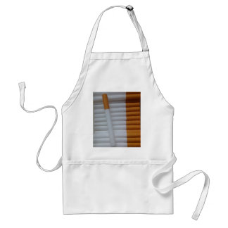 Empty cigarettes grouped together adult apron