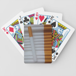 Empty cigarettes grouped together bicycle playing cards