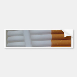 Empty cigarettes grouped together bumper sticker
