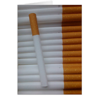 Empty cigarettes grouped together card