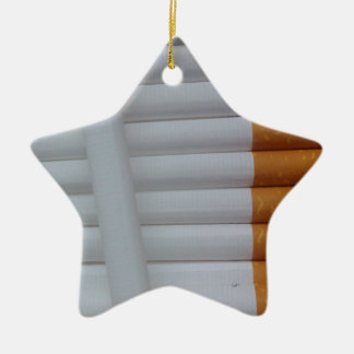 Empty cigarettes grouped together ceramic ornament