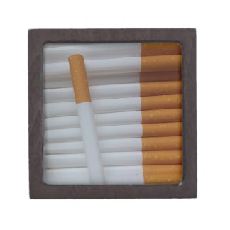Empty cigarettes grouped together jewelry box
