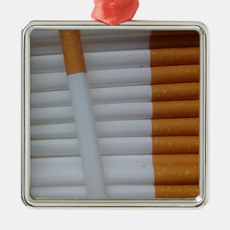 Empty cigarettes grouped together metal ornament