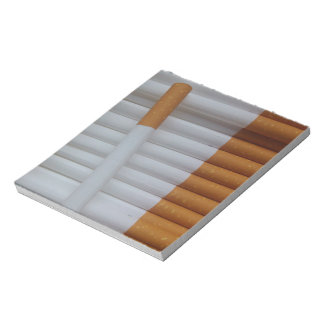 Empty cigarettes grouped together notepad