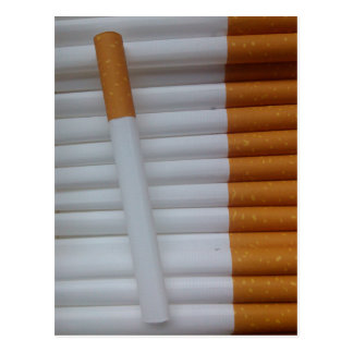 Empty cigarettes grouped together postcard