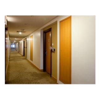 Empty corridor postcard