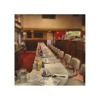 Empty Diner Wood Canvases