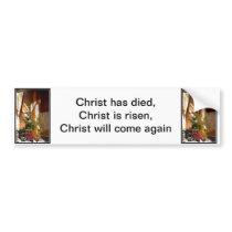 Empty Easter Cross of Jesus' Resurrection Bumper Sticker
