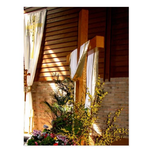 Empty Easter Cross of Jesus' Resurrection Post Card