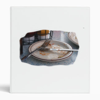 Empty Eaten Plate Fork Knife Food Foodie Design Vinyl Binder