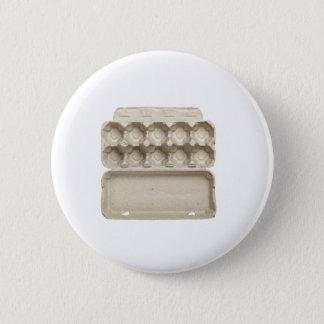 Empty egg carton pinback button