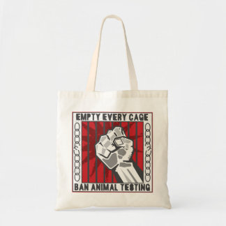 Empty Every Cage Tote Bag