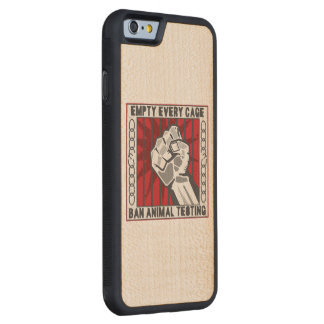Empty Every Cage Carved® Maple iPhone 6 Bumper