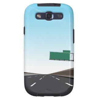 Empty Freeway Galaxy SIII Cases