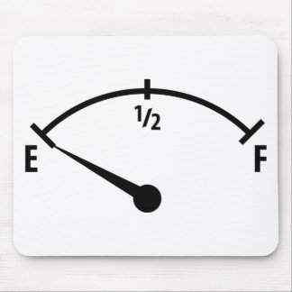 empty fuel tank icon mouse pad
