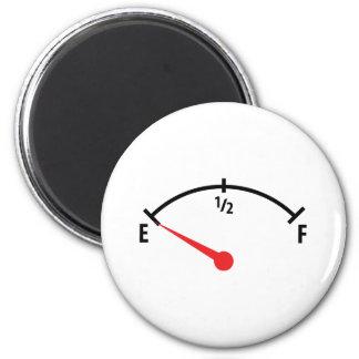 empty fuel tank indicator gauge car 2 inch round magnet