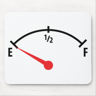 empty fuel tank indicator gauge car mouse pad