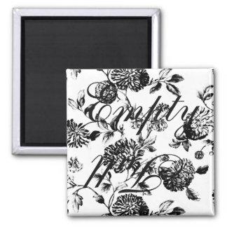 Empty Full Black Vintage Floral Toile Dishwasher Magnet