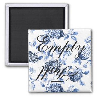 Empty Full Blue Vintage Floral Toile Dishwasher Magnet