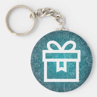 Empty Giftboxes Pictogram Basic Round Button Keychain
