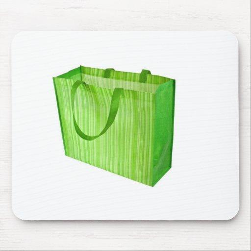 Empty green reusable shopping bag mousepad