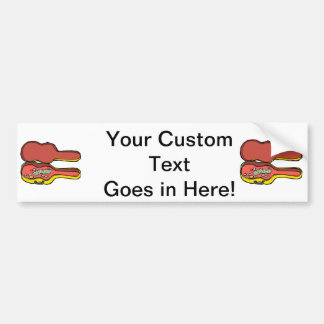 empty guitar case yellow.png bumper sticker