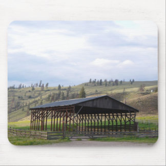 Empty Hay Barn and Rolling Hills Mouse Pad