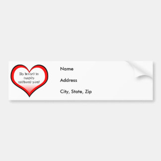 Empty Heart Address Label