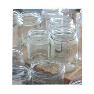 empty jars memo pads