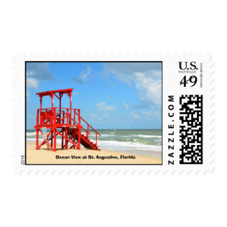 Empty life guard Stand Stamp