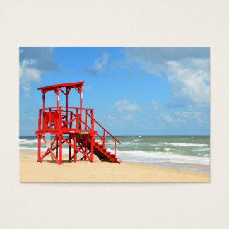 empty lifeguard stand business card