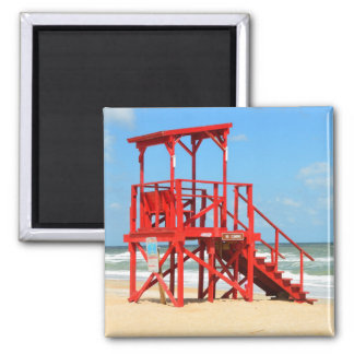 Empty Lifeguard Stand 2 Inch Square Magnet